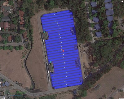 1.1 MW solar power plant for  wastewater treatment plant